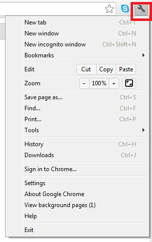 Enabling Cookies - Google Chrome