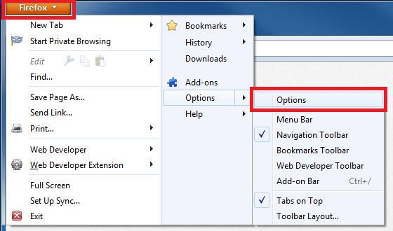 Enabling Cookies - Mozilla Firefox