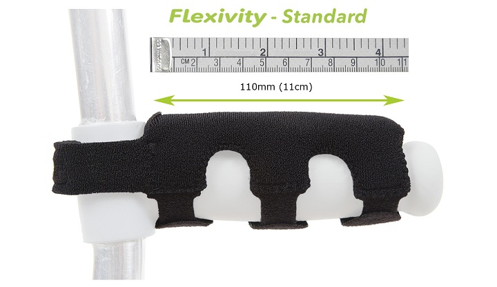 Flexivity Crutch Handle Cover sizing guide - Standard